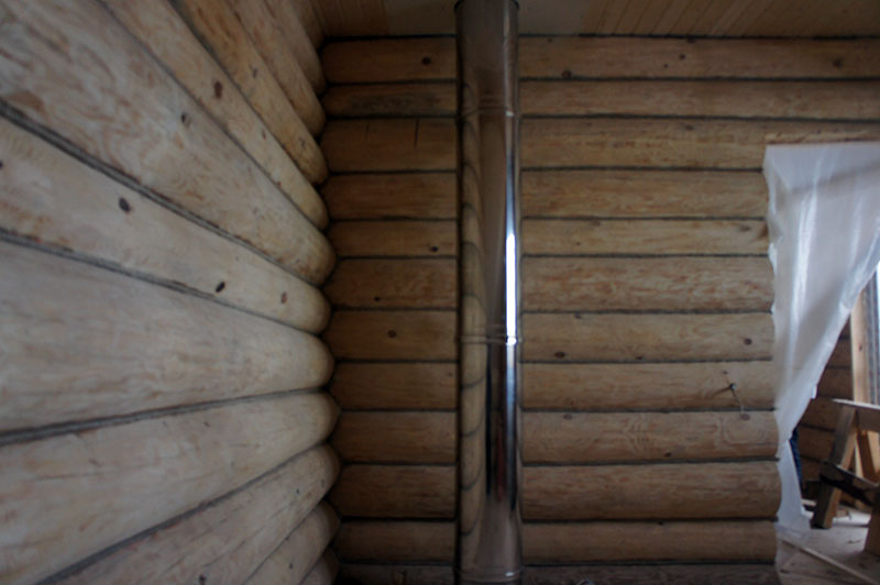 отделка бревенчатого дома фотоотчет старого